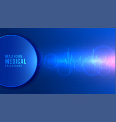 Medical science and healthacare background with vector