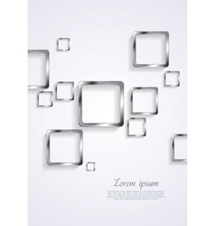 Metallic squares on white background vector image