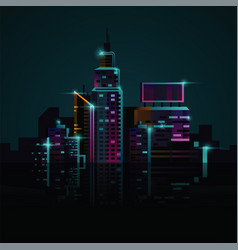 modern skyscrapers and business buildings with vector image