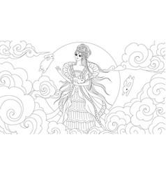 Moon goddess vector