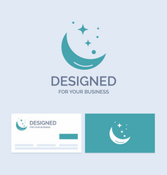 moon night star weather space business logo glyph vector image