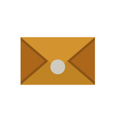 old envelope icon in cartoon style vector image