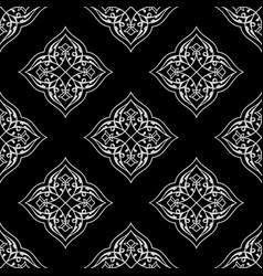 Oriental seamless pattern mandalas vector
