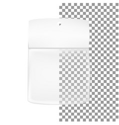 packaging white gray transparent empty packaging vector image