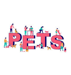 pets typography banner template happy vector image