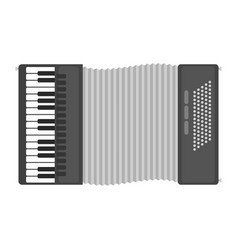 piano keyboard accordion harmonica musical vector image