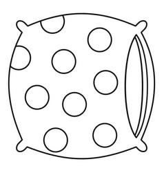 Pillow icon outline style vector