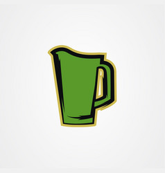 Pitcher beer icon logo design vector
