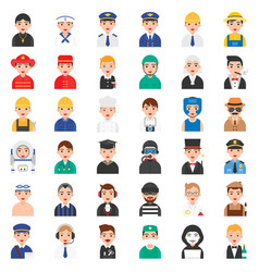 profession and job related icon set 1 male version vector image