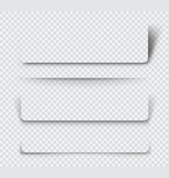 realistic page shadows set vector image