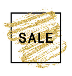 sale tag on a gold background vector image