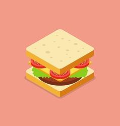 Sandwich isometric style vector