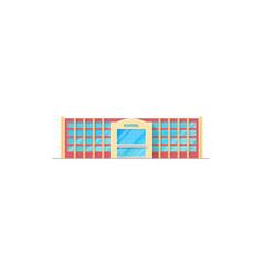 School building icon exterior design vector