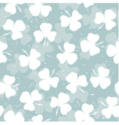 seamless floral pattern leaf clover sketch style vector image