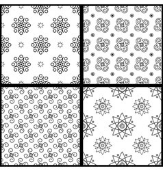 Seamless patterns white vector image