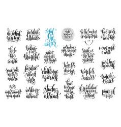 set of 25 handwritten lettering inscription vector image