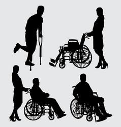 sick people silhouette vector image