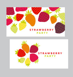 simple colorful strawberry design element vector image