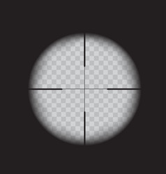 Sniper scope crosshairs view realistic optical vector