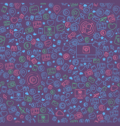 social media colorful seamless pattern vector image