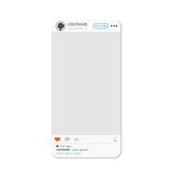 social media post screen vector image