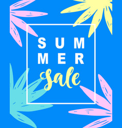 Summer sale modern banner template background vector