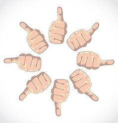 Thumbs vector image