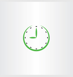 time clock icon symbol vector image