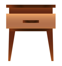 Traditional nightstand icon cartoon style vector
