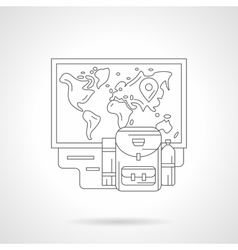 Trip planning detailed line vector image