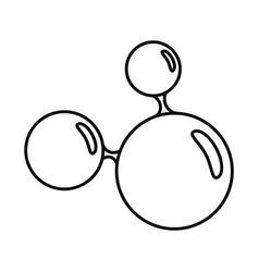 triple molecule icon outline style vector image
