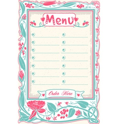Vintage Candid Menu in Pink vector