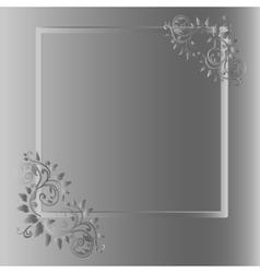 Vintage frame on grey background vector image vector image
