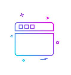 web icon deisgn vector image