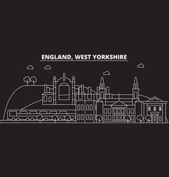 west yorkshire silhouette skyline great britain vector image