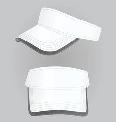 White visor cap vector