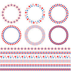 4th of july frames and borders vector image vector image