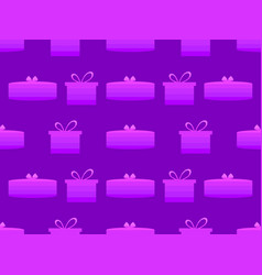 gift box seamless pattern shades of purple vector image