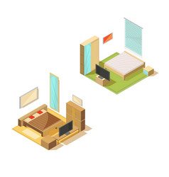 room furniture design collection vector image vector image