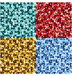 seamless geometric circles pattern vector image