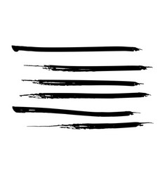 set of black watercolor paint ink brush strokes vector image vector image