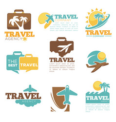 travel agency icon templates tourism bag vector image vector image