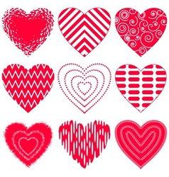 Valentine heart set vector image vector image