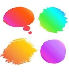 Banner paint gradient set vector image