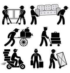 loader people icons vector image vector image