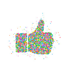 abstract thumb up icon vector image