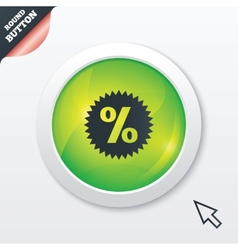Discount percent sign icon Star symbol vector image
