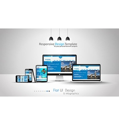 Modern devices mockups fpr your business projects vector image