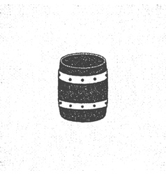 retro barrel icon Isolated on white background vector image vector image