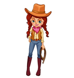 A cowgirl vector